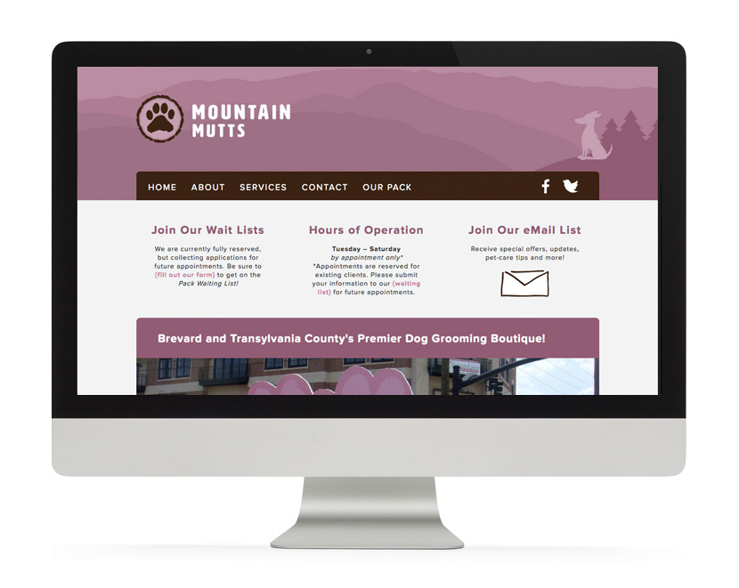 Mountain Mutts Website Home