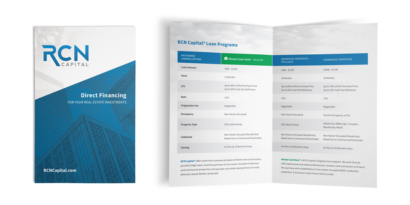 RCN Capital Half Fold Brochure