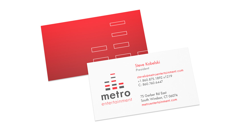 Metro Entertainment Business Card